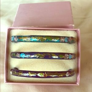 Set of 3 Asian bangle bracelets